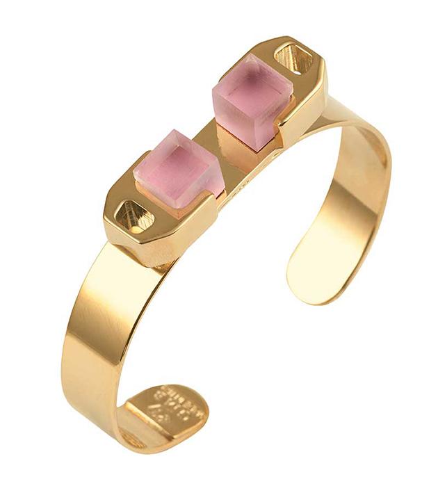 купите золотисто-розовый браслет Gold bracelet c плексигласом от Giuliana Mancinelli
