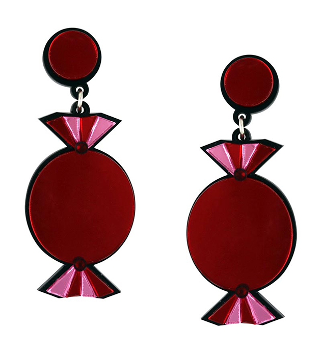 яркие серьги с кристаллами Swarovski - Quality Treat Red Earrings от Jennifer Loiselle