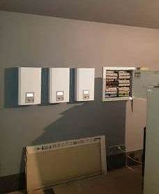Смонтированные стабилизаторы Вольт Engineering в частном доме с вводом 380В