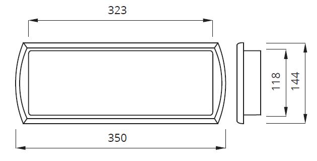 Размер люминесцентного светильника с аккумулятором Tiger