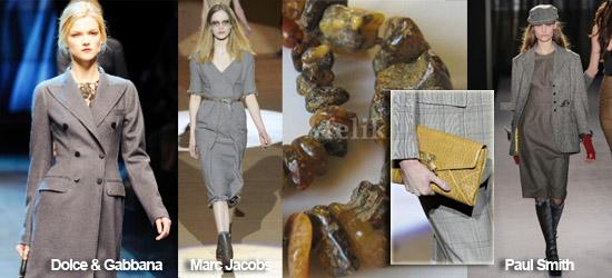 Мода осень-зима 2010-2011, основные тенденции, тренд - серый цвет, подборка фото