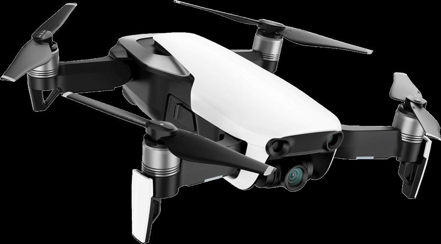 Мини-квадрокоптер (белый) с камерой 4K