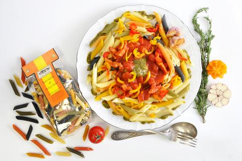 Паста Casa Rinaldi Пенне Арлекино с беконом (в томатном соусе)
