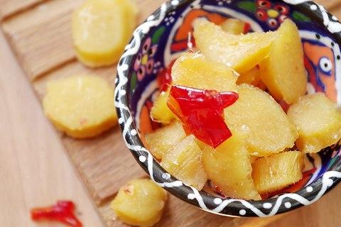 Имбирные цукаты с чили