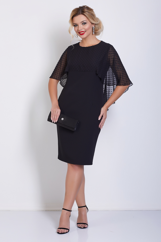 Черное вечернее платье