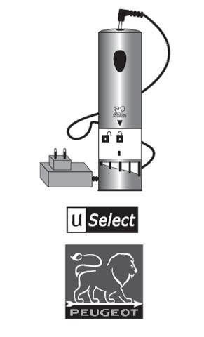 Аккумуляторная электрическая мельница для соли с регулируемым измельчителем