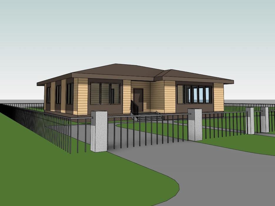 Развитие проекта одноэтажного дома «Дельта»