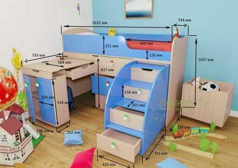 Детские кровати и особенности их сборки