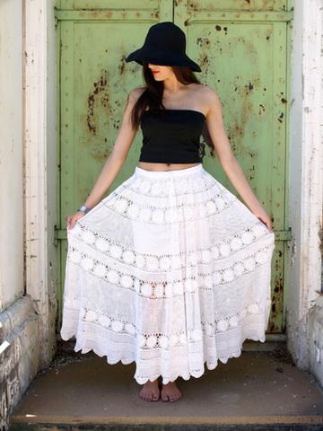 Кружевная цыганская юбка-солнце всего за 20 минут!