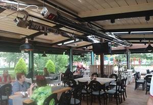 ADRIAN оборудовала террасу болгарского ресторана необычными обогревателями