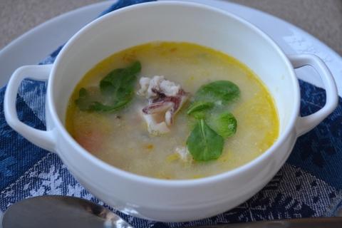 Молочный суп из камбалы