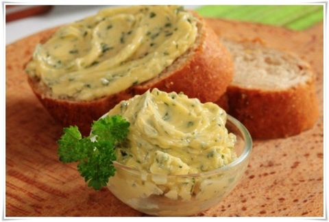 Зелёное масло вместо соуса