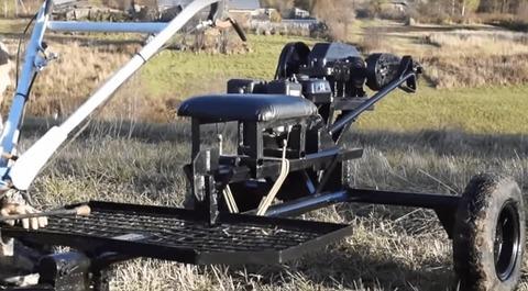 Механический дровокол с редуктором на мотоблоке