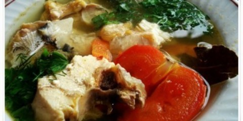 Суп из стерляди с грибами