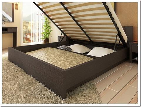 Кровать с подъемным механизмом.
