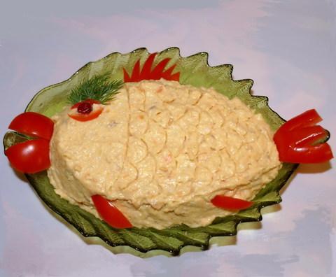 Сырный паштет из сельди