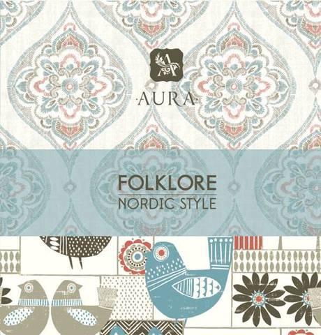 Представляем новую складскую коллекцию флизелиновых обоев  AURA FOLKLORE!