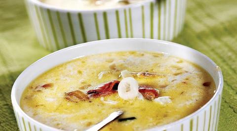 Молочный суп из хека