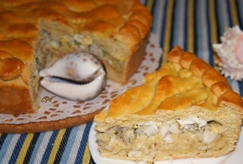 Рыбный пирог с картофельным пюре