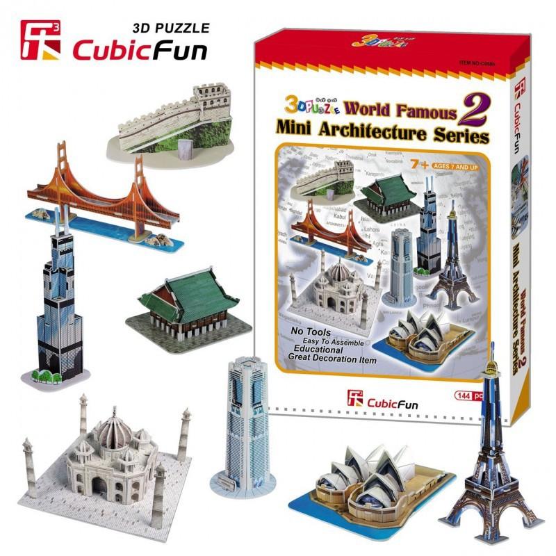 Пополнение ассартимента LEGO,Сборных моделей из картона CubicFun.