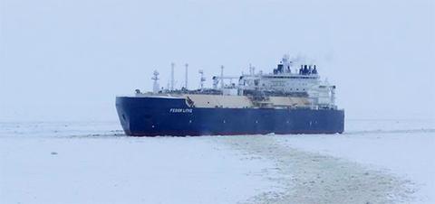 Ямал СПГ отгрузил 100-ю танкерную партию СПГ. Танкер-газовоз Федор Литке следует во Францию