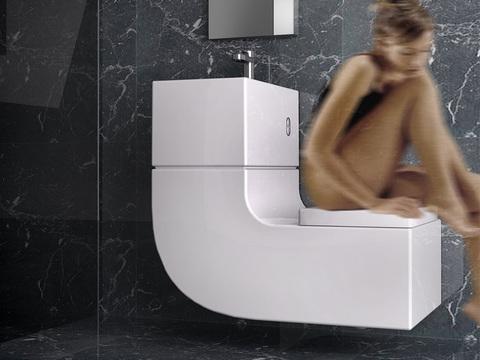 Уникальный комбинированный унитаз Roca W+w (Washbasin+Watercloset)