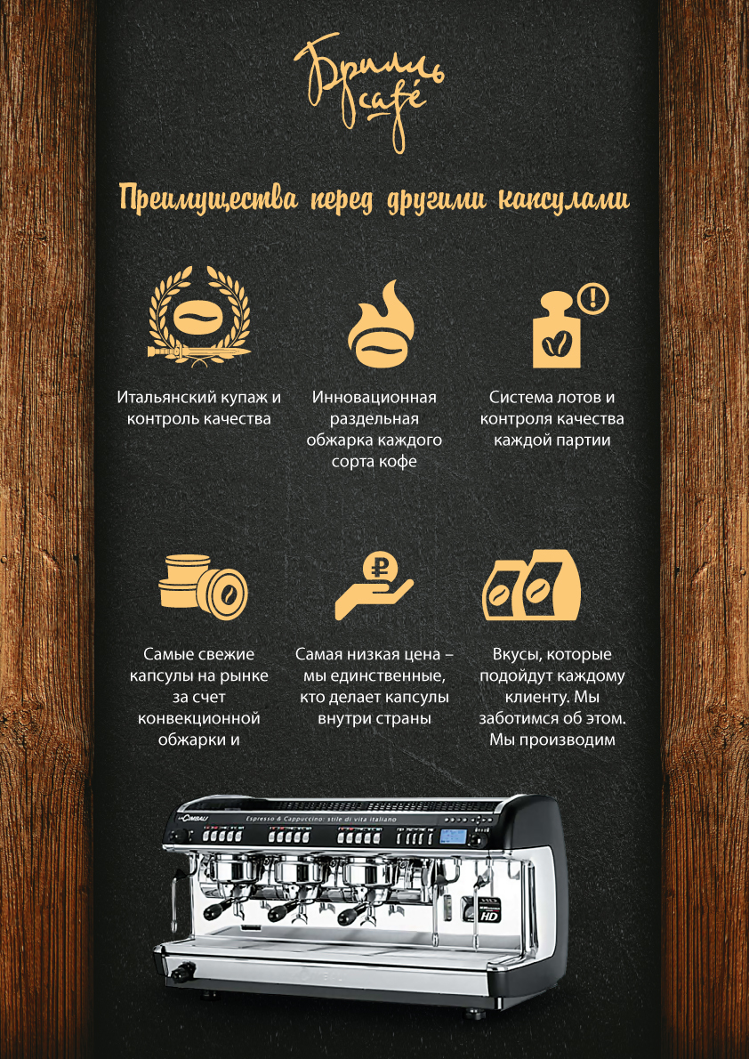 Кофейный бренд «Брилль Cafe» расширил рынок присутствия