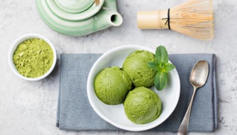 Рецепт мороженого  с матча на зеленом чае
