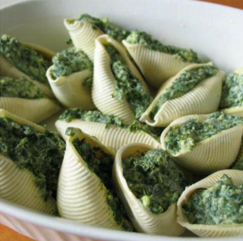 Рецепт Паста со шпинатом и сыром под соусом Бешамель