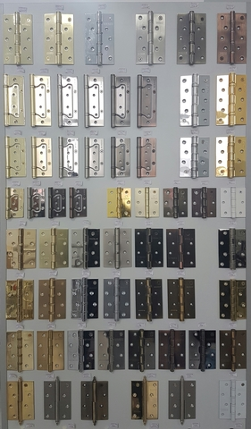 Петли дверные, рояльные, каплевидные. Более 100 видов.