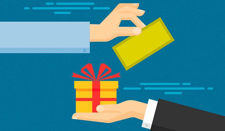 Варианты программы лояльности: подарки за покупку