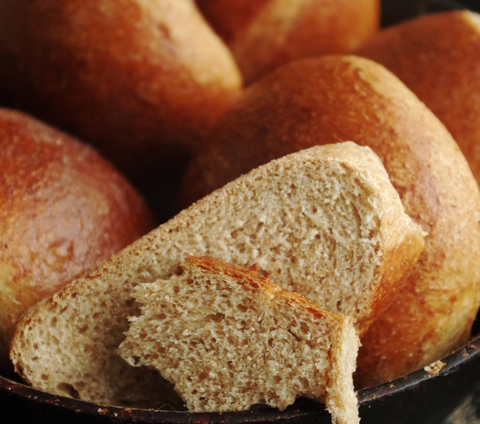 Цельнозерновые сдобные булочки на закваске Sekowa