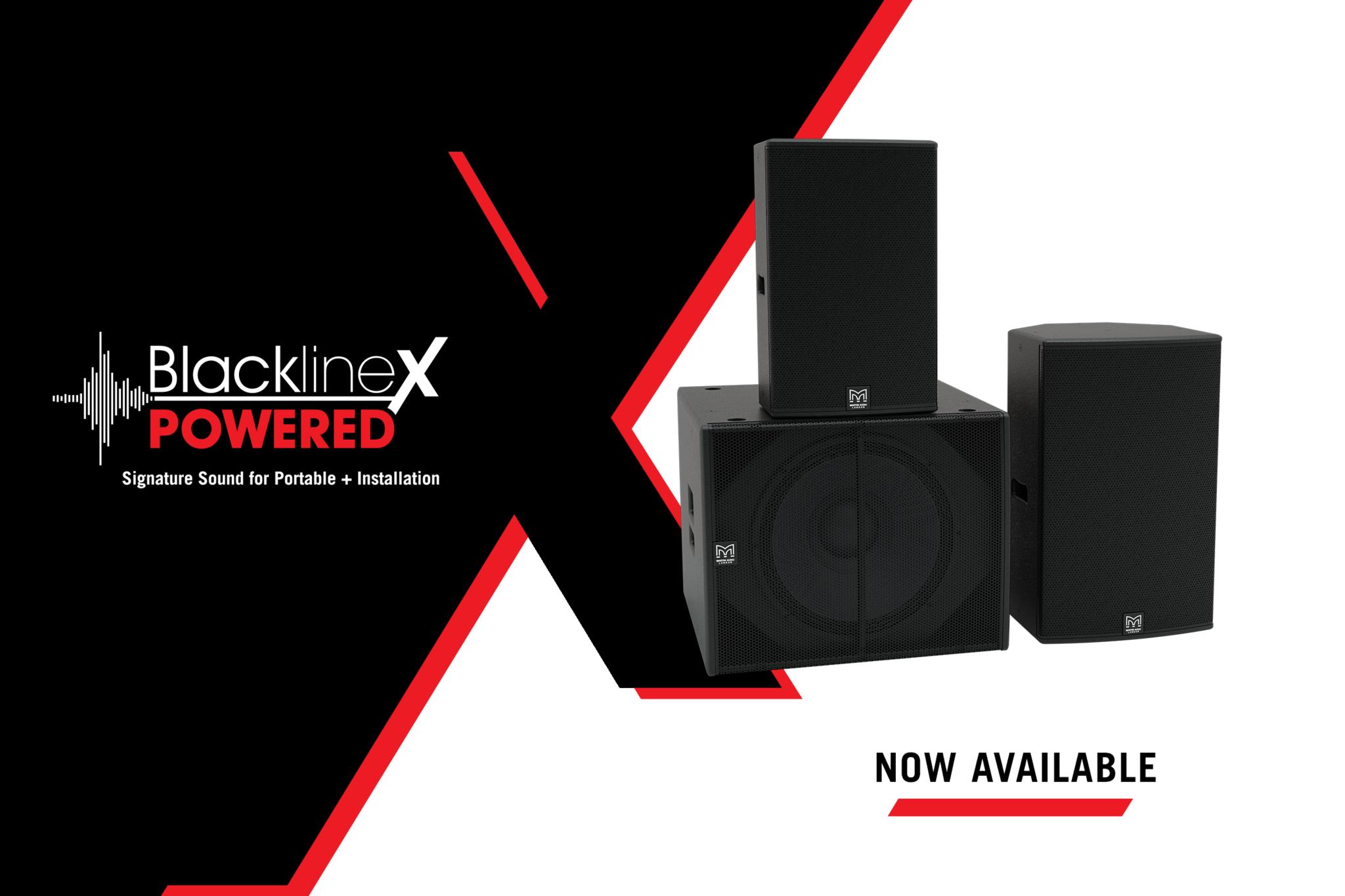 Martin Audio добавляет новый продукт в самый продаваемый модельный ряд портативной акустики компании - BlacklineX Powered