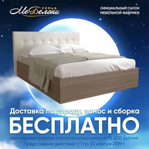 Акция: бесплатная доставка, занос и сборка кровати в ноябре 2019 г.