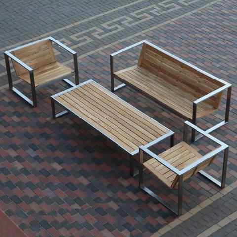 Качественная садовая мебель из дерева и металла от производителя