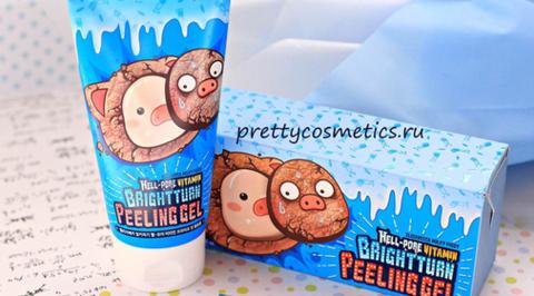 Отшелушивание кожи с корейской пилинг-скаткой Elizavecca Hell-Pore Vitamin Bright turn Peeling Gel