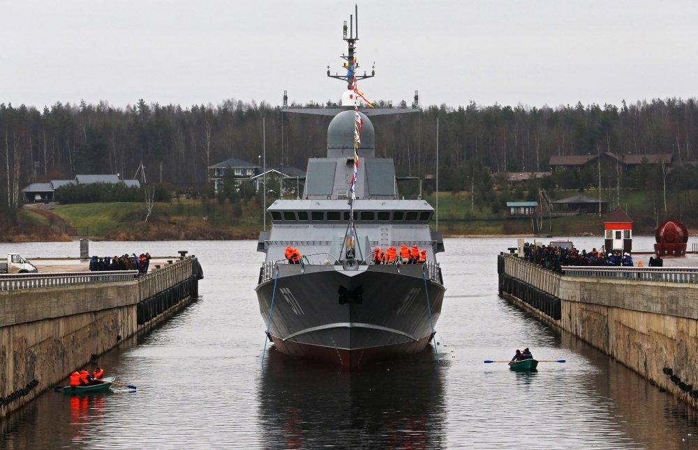 """Корабль, несущий на борту """"Панцирь-М"""", спущен на воду"""