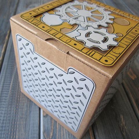 Подарочная коробка в стиле стимпанк