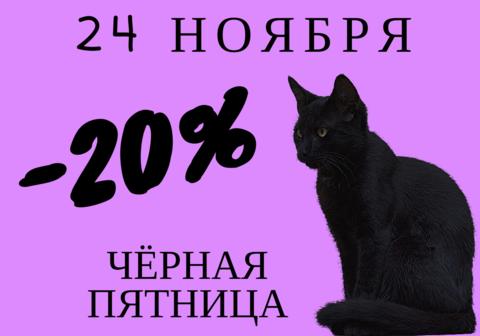 Скидка 20% 24 НОЯБРЯ