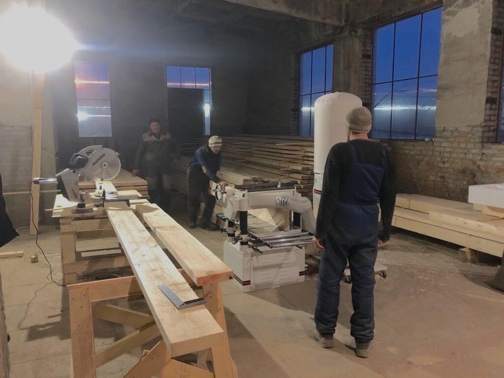 Начато изготовление комплектов для каркасных домов