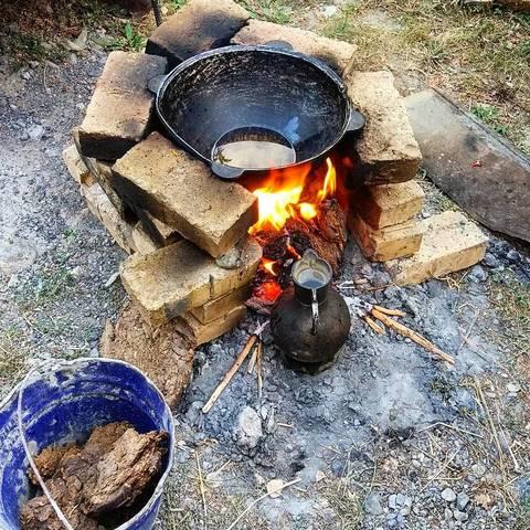 Готовим ужин на костре
