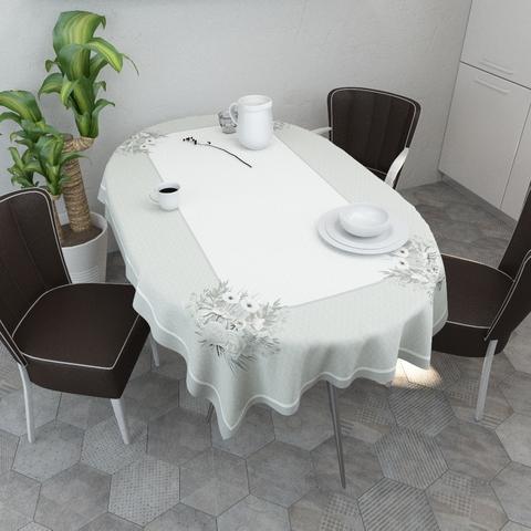 Выбираем скатерть для овального или круглого стола (фото)
