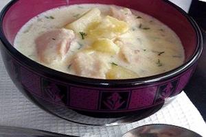 Деревенский рыбный суп