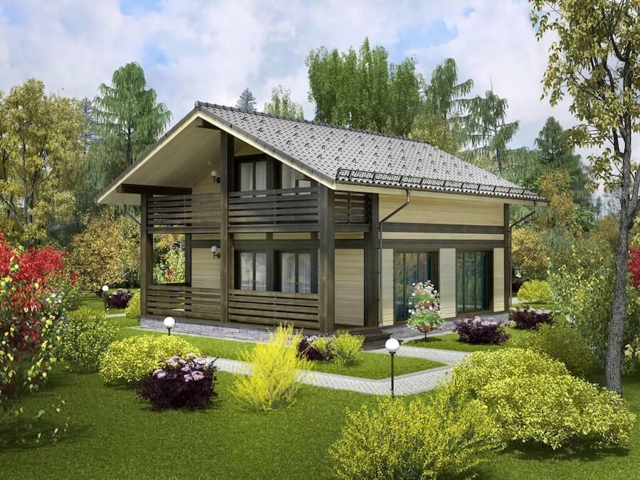 Архитектура каркасных домов