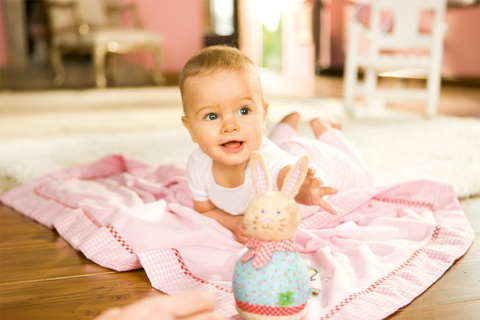 Развитие малыша в 5 месяцев.