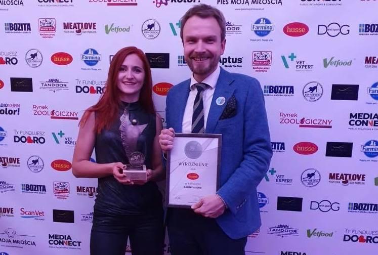 Husse с наградой TOP for DOG 2019 в категории сухой корм.
