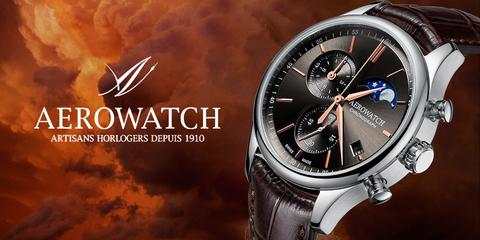Новый кварцевый хронограф от Aerowatch с лунным календарем