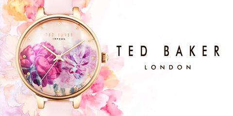 Нежный цветочный принт на циферблате Ted Baker