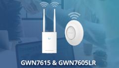 Grandstream добавляет две новые модели к серии Wi-Fi точек доступа - GWN7615 и GWN7605LR