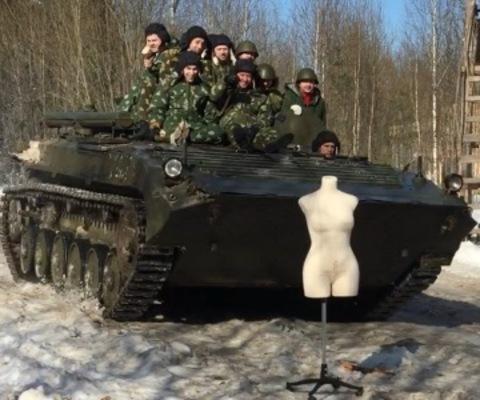 Испытание на прочность танком